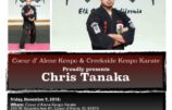 Nov. 9-10th Tanaka Weapon Seminars
